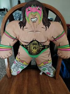Vintage Tonka The Ultimate Warrior WWF Wrestling Buddy Plush Pillow 1990 see pic