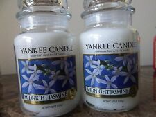 Yankee Candle Midnight Jasmine Lot of 2 NEW  22 oz.Candles Free Ship White Label