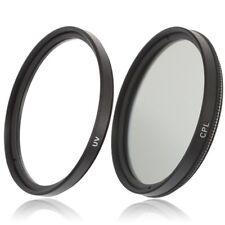 49mm UV Filter & CPL Polfilter Zirkular für Kameras mit 49mm Einschraubanschluss
