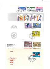 LIECHTENSTEIN(Sports/Olympics)-19 FD covers/cards,clean,unaddressed