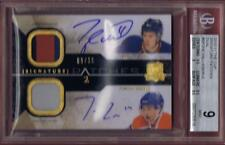 2010-11 THE CUP HALL EBERLE ROOKIE DUAL SIGNATURE PATCHES AUTO BGS 9 RC UD 10-11