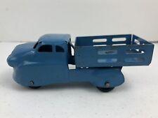 "Vintage Wyandotte Light Blue Pressed Steel 6"" Stake Delivery Truck"