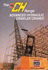 """RB International """"CH"""" Range of Advanced Hydraulic Crawler Cranes Brochure"""