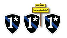 (3) Thin Blue Line Badge 1* One ass to Risk Support Police Sticker Decals TB6