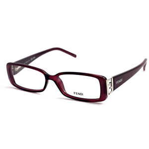 Fendi Eyeglasses Women Burdeaux Full Rim Rectangle 52 14 135 F975 604