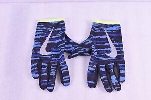 Men's Nike Printed Thermal Rally Run Gloves Blue Camoflauge & Black, Large