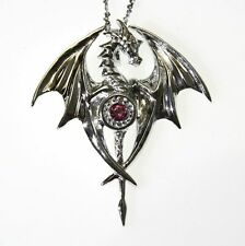 Dragon Goddess Sterling Silver 925 Pendant Necklace Anne Stokes Mythical Compani