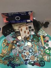 Vintage Costume Jewelry Pins Old Buckle Button Junk Drawer Wholesale Lot (100)