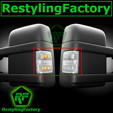 2008-2015 Super Duty Side Mirror Turn Lights LED CLEAR Lens Replacement Kit Set