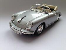 Welly Porsche 356 B Cabriolet 1/24 silber ähn. Bburago größe