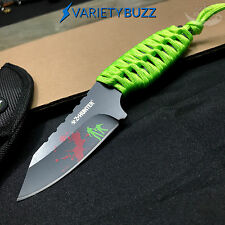 FULL TANG NINJA ZOMBIE TACTICAL SURVIVAL HUNTING KNIFE Fixed Blade Bowie SHEATH