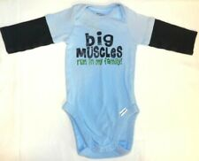 Infant Boy's Clothing, Winter Onsie, Gerber's, 0-3 mo, Navy, Baby Blue, NEW