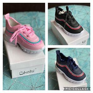 Kelsi infants children boys/girls lace up trainer shoes