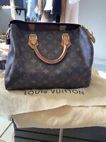 LOUIS VUITTON LV Speedy 30 monogram Tote Purse Handbag AUTHENTIC