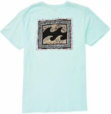 Billabong Men's L Large Spearmint Warp Cotton Tee T-Shirt Short Sleeve