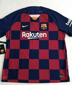 Nike FC Barcelona Vaporknit Authentic Soccer Jersey Men 2XL Blue AJ5257-456 New