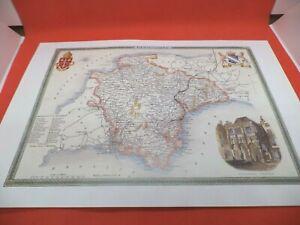 devon DEVONSHIRE new art print repro ANTIQUE COUNTY MAP thomas moule 1800s