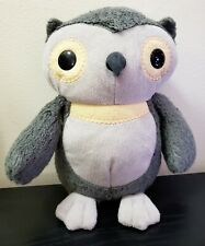 """KOHL'S CARE FOR KIDS 9"""" GRAY OWL AESOPS FABLES PLUSH STUFFED ANIMAL TOY"""