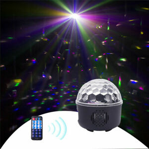 10W LED Magic Ball Stage Lighting USB Colorful  Light Effect DJ Bar Party Remote
