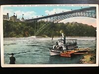 Vintage Postcard>1915-1930>Maid of the Mist>Arch Bridge>Niagara Falls>New York