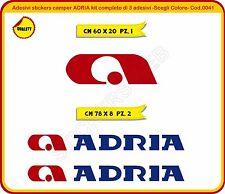 Adesivi stickers camper ADRIA kit completo di 3 adesivi Cod.0041
