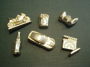 INDIVIDUAL Monopoly EMPIRE Golden Game Pieces ~ Corvette, Motorcycle, etc.