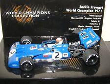 JACKIE STEWART Minichamps 1:43 TYRRELL FORD 003 1971 CAMPIONI DEL MONDO COLLEZIONE