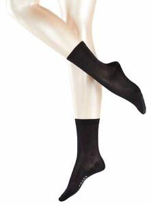 Falke Womens Sensual Silk Midcalf Socks - Black