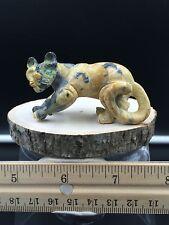 Zuni Fetish/Leopard Marble Cougar/Dan Quam/Zuni Fetish carving # E665