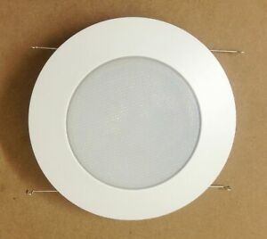 """6"""" INCH RECESSED CAN LIGHT SHOWER TRIM FROSTED GLASS ALBALITE LENS WHITE"""