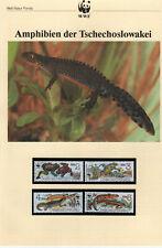 WWF, WNF Kapitel - TSCHECHOSLOWAKEI,  Amphibien,  1989