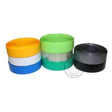 100mm~199mm PVC Heat Shrink Tubing Wrap (Black/Blue/Red/Green/Clear/Yellow)
