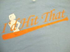 """I'd Hit That"" Sexy Pin Up Girl V-Neck Baseball Jersey Number #1 T Shirt M"