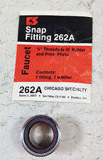 "SNAP FITTING 262A 3/4"" THREADS TO FIT KOHLER AND PRICE PFISTER CHICAGO SPECIALTY"