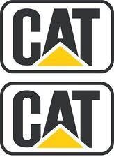 "CAT Stickers Decals Hard Hat Toolbox Diesel Bull Dozer Escavator Backhoe 2"" Pair"