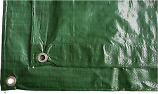 Heavy duty green waterproof tarpaulin,7 sizes up to 4m x 4m all under £10,