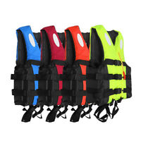 Adult Adjustable Life Jacket Vest Marine Reflective Sailing Kayak Fly Fishing L
