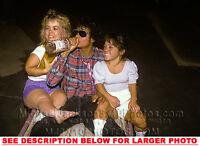 MICHAEL JACKSON 1984 DRINKING VODKA (1) RARE  PHOTO