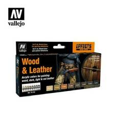 Vallejo VAL70182 Wood and Leather 8 Colour Paint Set - Brand New