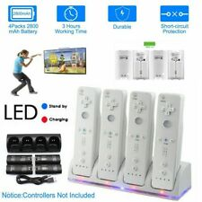 4PCS Rechargeable Batteries For Wii Remote Controller & Charger Dock Station 562