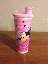 TUPPERWARE NEW  RARE 16 oz Disney Minnie Mouse Tumbler Cup w Pink Flip Top Seal