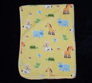 Circo Target Yellow Baby Blanket Bunny Turtle Giraffe Hippo Frog Plush Security