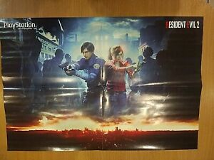 RESIDENT EVIL 2 Claire Redfield, Leon Kennedy, Sherry Reversible PS4 Poster