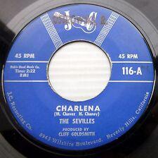 The SEVILLES  R&B R&R doowop orig.J C 45 Loving You Is My Desire ~Charlena F3051