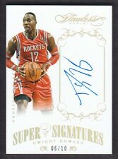 2013-14 Panini Flawless Super Signatures Gold Dwight Howard 06/10 Auto Rockets