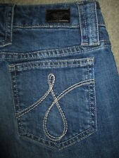 JUICY COUTURE Size 25 Wide Leg Flare Stretch Dark Med Blue Denim Jean Womens USA