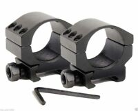 2X 30mm Scope Rings Profile 20mm Picatinny Weaver Rail Mount For Hunting
