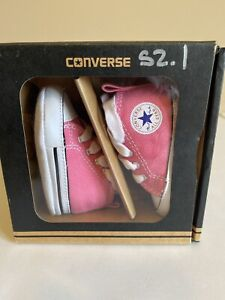 CONVERSE NEWBORN CRIB Pink 88871 FIRST ALL STAR BABY GIRL SHOES SIZE 1 NEW