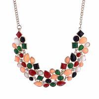 Charm Fashion Pendant Chain Crystal Choker Chunky Statement Bib Necklace Jewelry