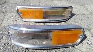 BMW E10 02 1602 1502 1802 2002 turbo Alpina Clear/Amber Italian Turn Signals